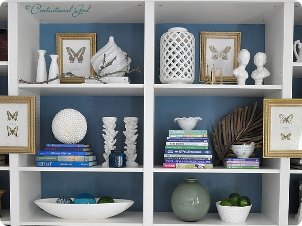 styled bookcase detail cg