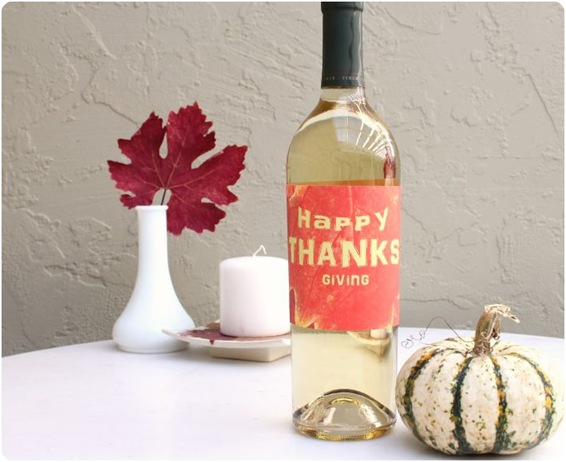 thanksgiving wine label yana dugan