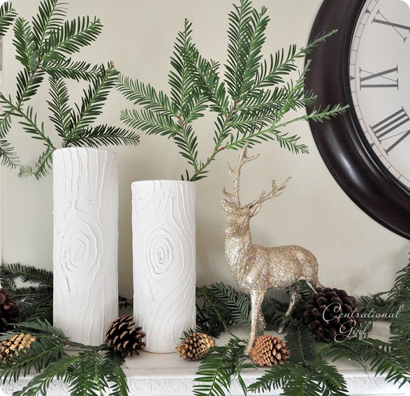 winter white faux bois vases cg