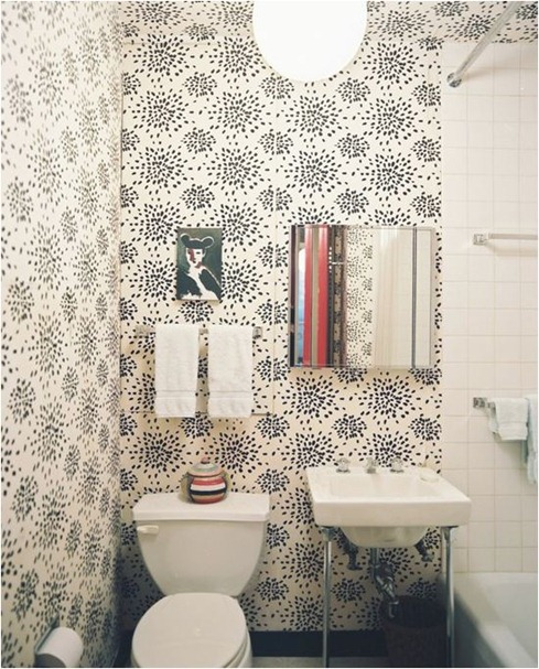 albert hadley bathroom wallpaper