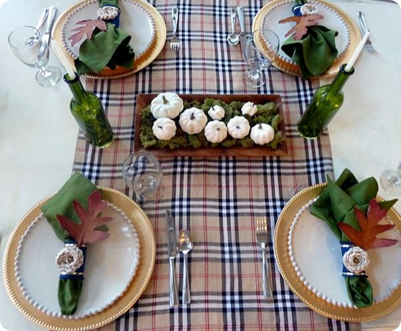 burberry tablescape