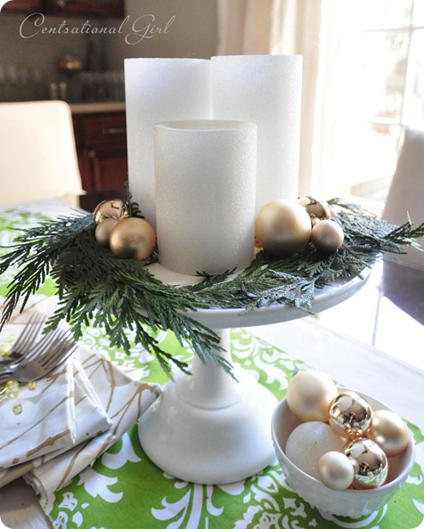 candles on cake stand