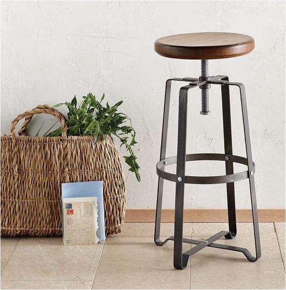 industrial stool west elm