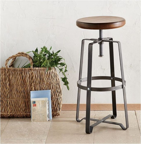 industrial stool west elm