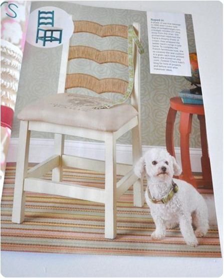 jute chair makeover