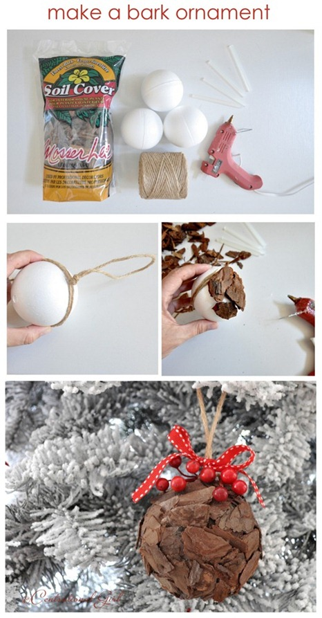 make a bark ornament