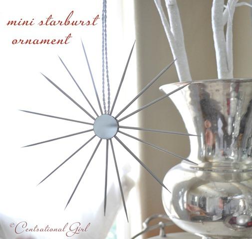 Diy Sprinkle Ornaments: Mini Silver Starburst Ornament