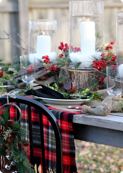 plaid outdoor tablescape sweet somethign design