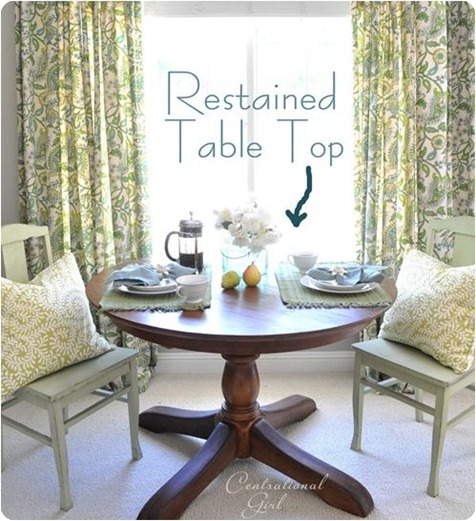 restained table