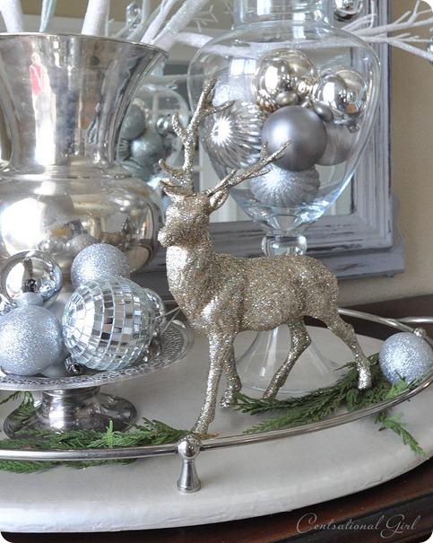 sparkling silver reindeer
