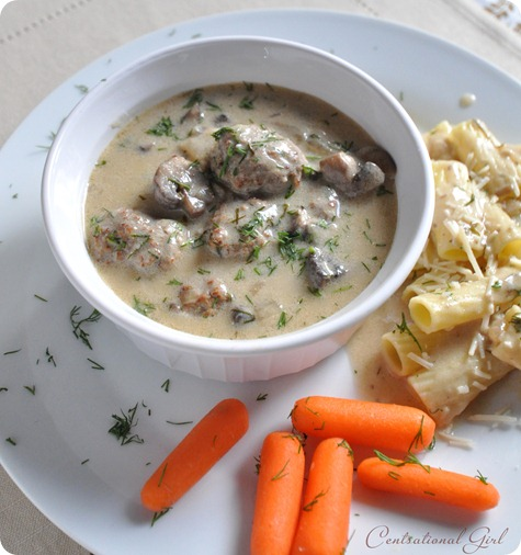 stroganoff meatballs in bowl cg