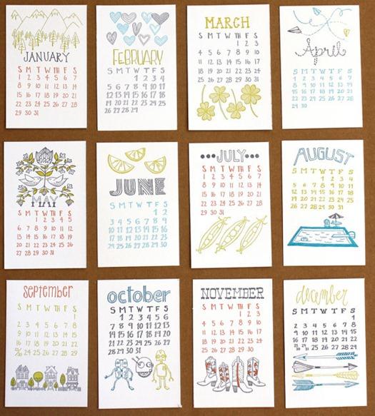 1 canoe 2 calendar
