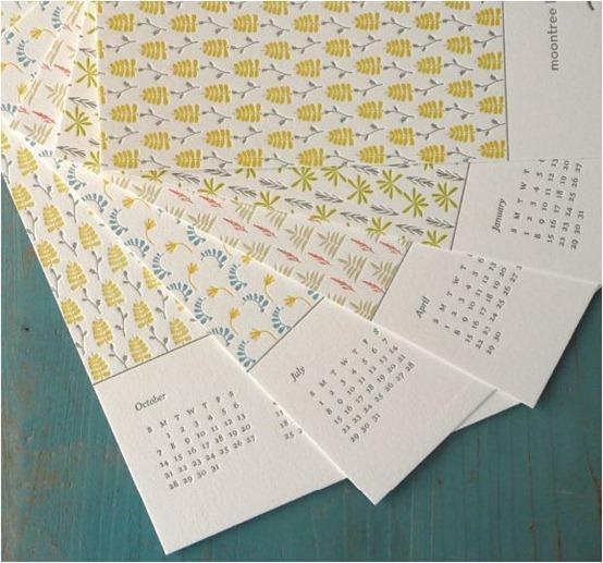 angela liguori letterpress calendar