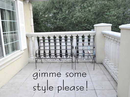 balcony style please