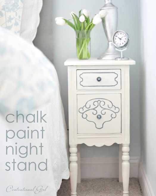 chalk paint night stand cg