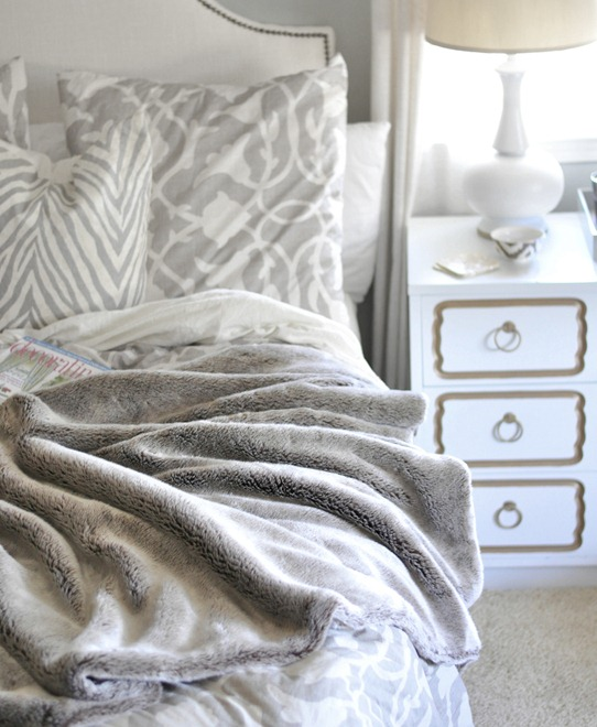 cozy winter blanket in bedroom