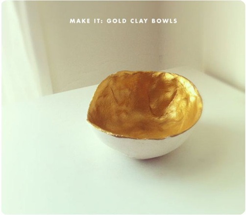 gold clay bowl