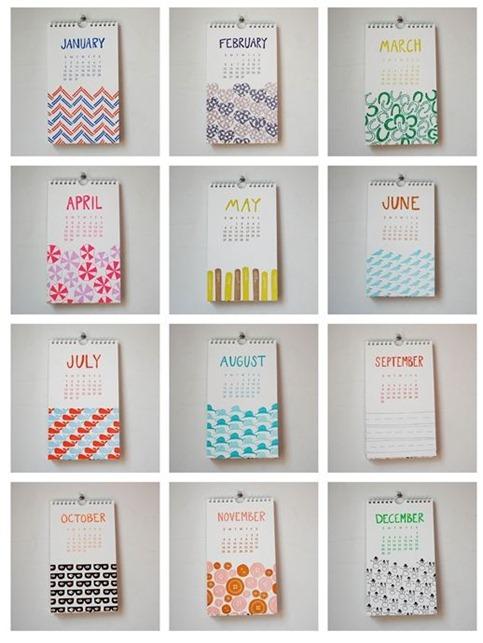 linda and harriet letterpress calendar