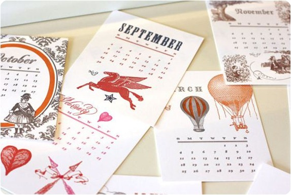 missing q press letterpress calendar