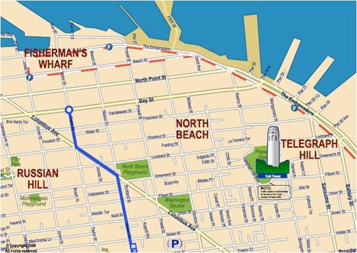north beach san francisco map