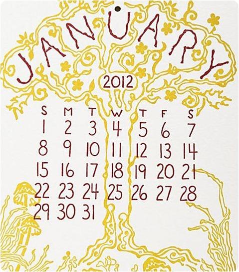 old school 2 letterpress calendar papersource