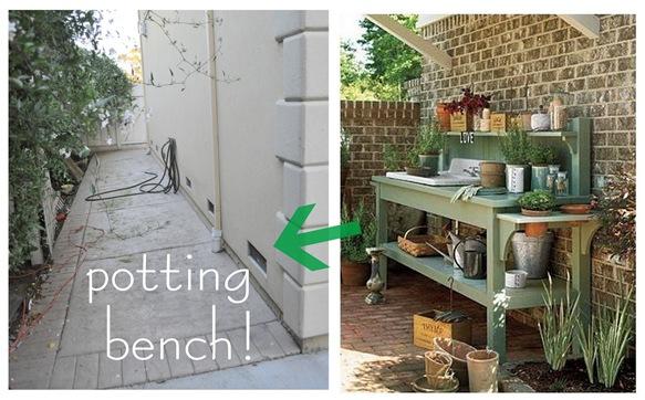 potting bench side yard