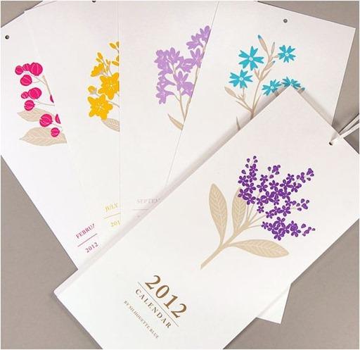 pretty floral calendar