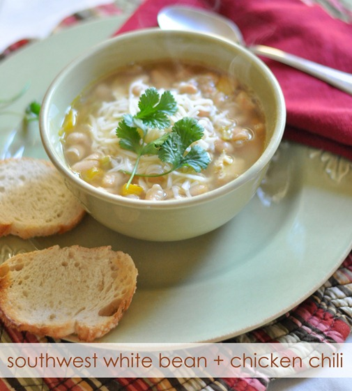 Southwest White Bean + Chicken Chili | Centsational Girl