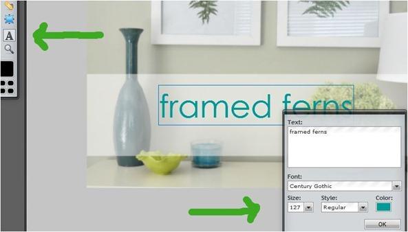 text tool font color