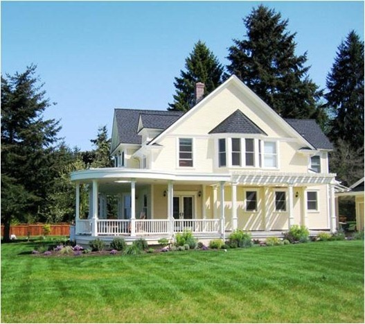 Which style home would you choose centsational girl for Modern homes with wrap around porches