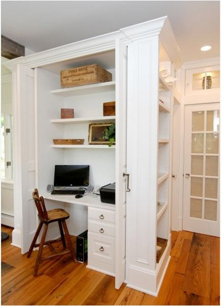 Small space solutions home offices centsational girl for Hidden home office ideas