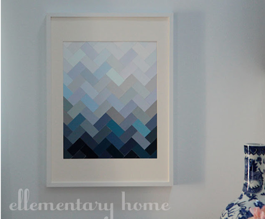 ellementary home ombre paint chip art