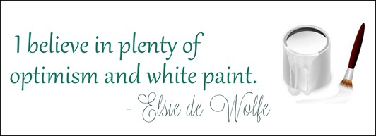 elsie de wolfe optimism and white paint
