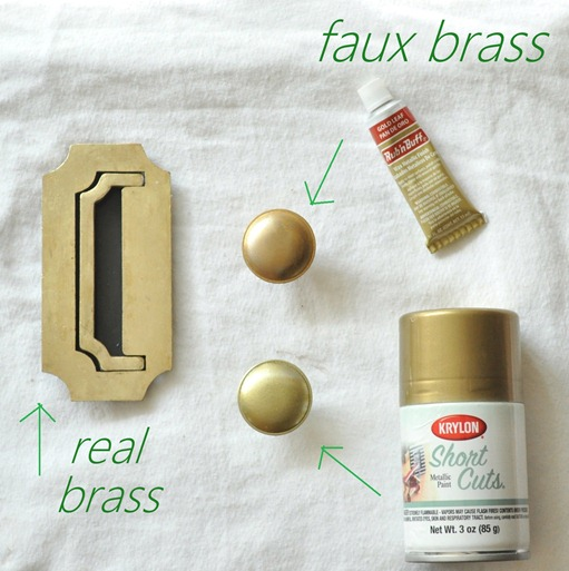 faux brass products