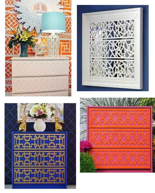 fretwork overlays