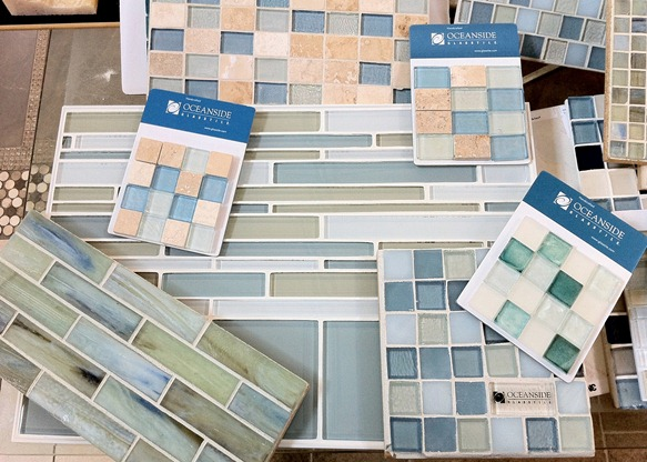 glass tile samples