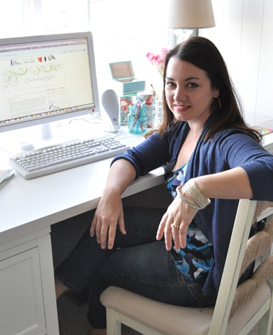 kate at desk