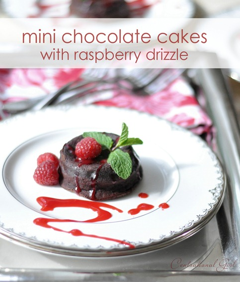 mini chocolate cakes with raspberry drizzle cg