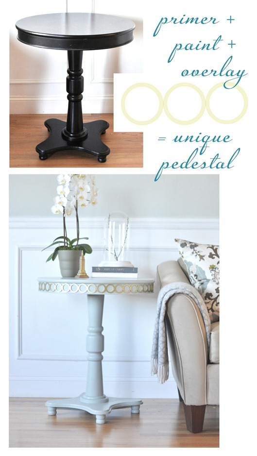 Pedestal table with overlays centsational girl for Centsational girl
