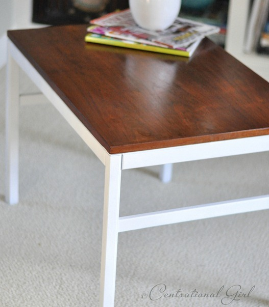stained and painted side table cg