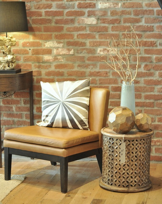 west elm brick wall chair endtable