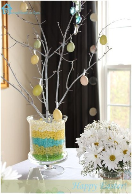 branches and jelly beans centerpiece