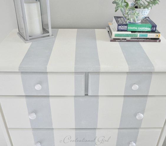 cg striped dresser up close