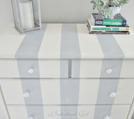 cg striped dresser up close