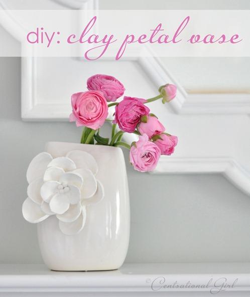 argile bricolage vase pétale cg