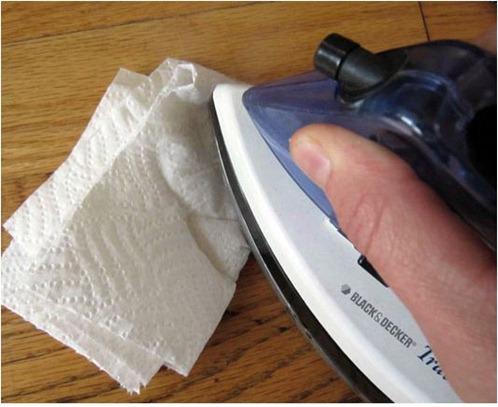fix wood floors with iron