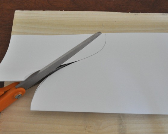fold paper in half and cut