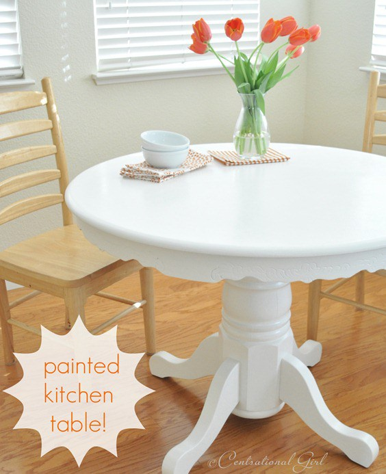 Painting a kitchen table centsational style watchthetrailerfo