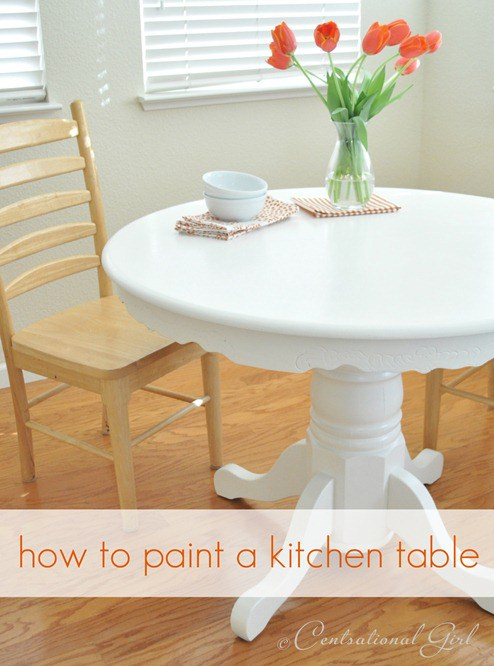 Painting a kitchen table centsational style todays diy project is about how to paint a kitchen table ive been painting furniture and cabinets for years but this time i tackled the painting of a watchthetrailerfo