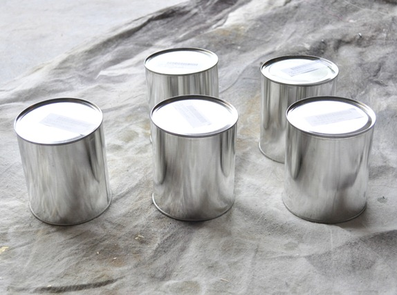 plain paint cans